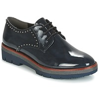 Shoes Women Derby Shoes Marco Tozzi PELUCHE Marine