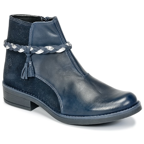 Shoes Girl Mid boots Citrouille et Compagnie HOCEA Blue