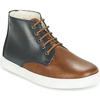 Shoes Boy Mid boots Citrouille et Compagnie HILABOUL Brown / Marine