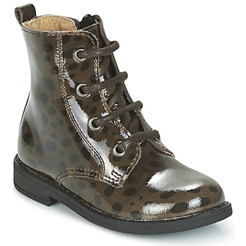 Shoes Girl Mid boots Citrouille et Compagnie HEMANU Black / Brown
