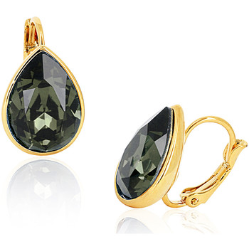Watches Women Earrings Fashionvictime Earrings For Women By - 18Ct Gold Plated Jewel- Crystals From S Noir
