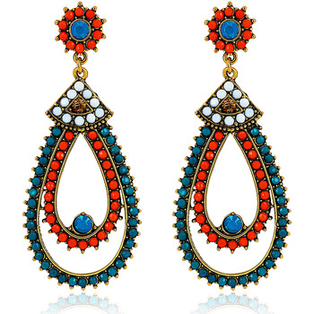 Watches Earrings Fashionvictime Earrings For Women By  - Base Metal Jewel- Crystal Multicolore,