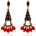 Fashionvictime Earrings Ethnic For Women By  - Base Metal Jewel- Crystal