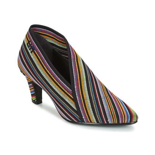 Shoes Women Shoe boots United nude FOLD LITE MID Black / Multicoloured