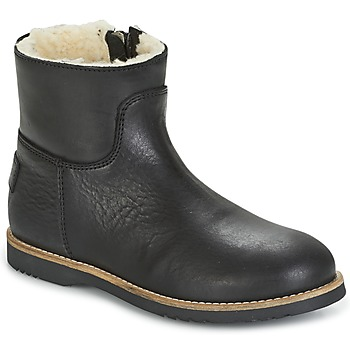 Shoes Girl Mid boots Shabbies LOW STITCHDOWN LINED Black