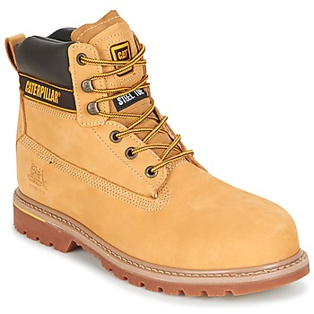 Shoes Men Mid boots Caterpillar HOLTON ST S3 HRO SRC Honey