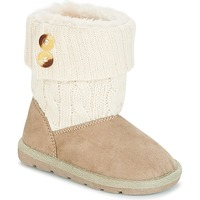 Shoes Girl Mid boots Chicco CHARME Beige / Brown