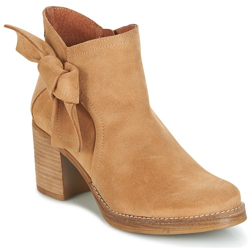 Shoes Women Ankle boots Casual Attitude HIRCHE Beige