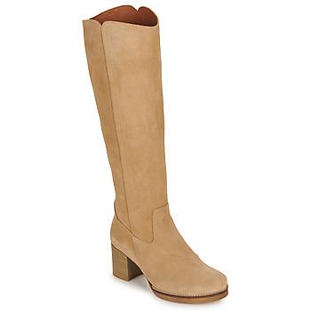 Shoes Women High boots Casual Attitude HAPI Beige
