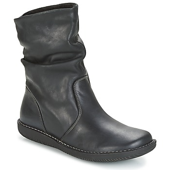 Shoes Women Mid boots Casual Attitude HAPANO Black