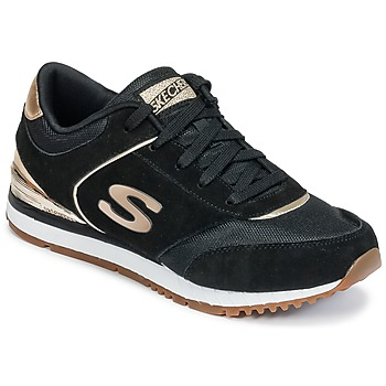 Shoes Women Fitness / Training Skechers SUNLITE Black / GOLD