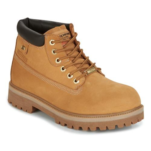 Shoes Men Mid boots Skechers SERGEANTS Camel
