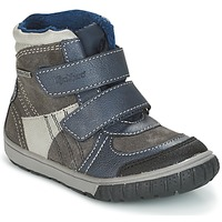Shoes Boy Snow boots Kickers SITROUILLE Grey / Dark / Blue