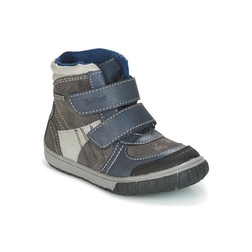 Shoes Boy Snow boots Kickers SITROUILLE Grey / Dark / Blue