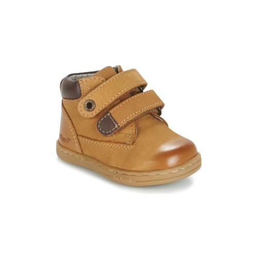Shoes Boy Mid boots Kickers TACKEASY Camel