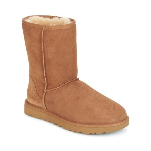 Shoes Women Mid boots UGG CLASSIC SHORT II Camel