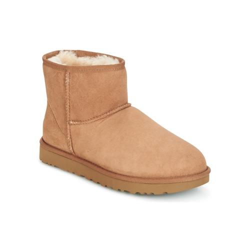 Shoes Women Mid boots UGG CLASSIC MINI II Camel