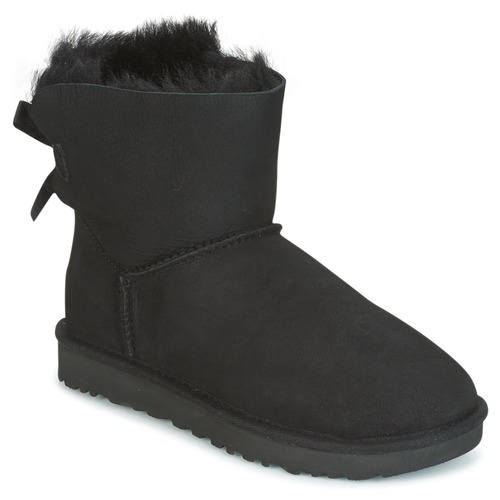 Shoes Women Mid boots UGG MINI BAILEY BOW II Black