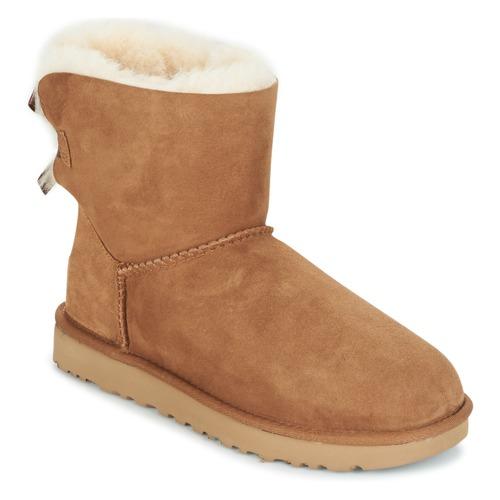 Shoes Women Mid boots UGG MINI BAILEY BOW II Camel