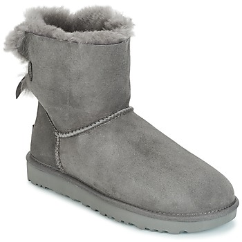 Shoes Women Mid boots UGG MINI BAILEY BOW II Grey