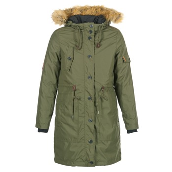 Clothing Women Parkas Cream ADA PARKA JACKET KAKI