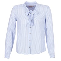 Clothing Women Shirts Cream CAMA STRIPED SHIRT Blue