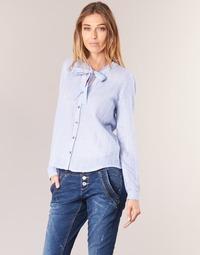 Clothing Women Shirts Cream CAMA STRIPED SHIRT Blue