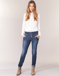 Clothing Women straight jeans Cream NYNNE JEANS BAILEY FIT Blue