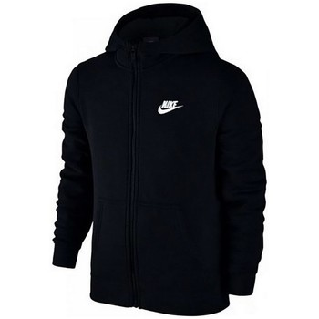 Clothing Women sweatpants Nike SW Hoodie FZ Club Junior Black