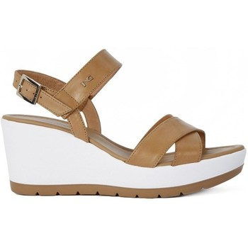 Shoes Women Sandals Nero Giardini Sandalo Leon Brown-White