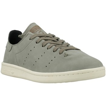 Shoes Men Low top trainers adidas Originals Stan Smith Lea Sock Grey
