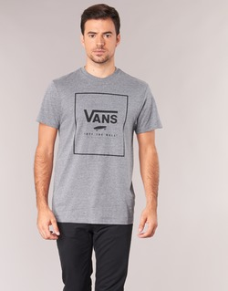 Clothing Men short-sleeved t-shirts Vans PRINT BOX Grey