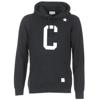 Clothing Men sweatpants Converse CONVERSE ESSENTIALS COLLEGIATE STAR PULLOVER HOODIE Black