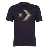 Clothing Men short-sleeved t-shirts Converse DIMENSIONAL LAYER STAR CHEVRON TEE Black