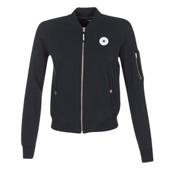 Clothing Women Jackets / Blazers Converse CORE MA-1 BOMBER Black