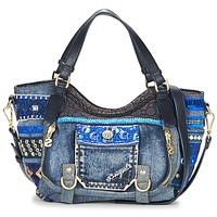 Bags Women Small shoulder bags Desigual BOLS_ROTTERDAM MINI EXT.EXOTIC Black / DENIM