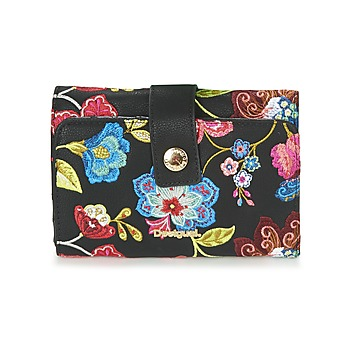 Bags Women Wallets Desigual MONE_CARIBOU LENGÜETA S Black / Multicoloured