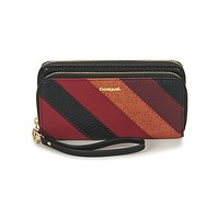 Bags Women Wallets Desigual MONE_JUNO TWO LEVELS Black / Red