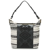 Bags Women Small shoulder bags Desigual BOLS_LILA ASTÚN Black / Cream