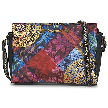 Bags Women Shoulder bags Desigual BOLS_VEGAS TRANSFLORES Black / Multicoloured