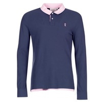 Clothing Men long-sleeved polo shirts Vicomte A. POLO HOMME ML BICOLORE ECLIPSE FW17 Blue