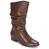Shoes Women High boots Spot on LAVAS Camel