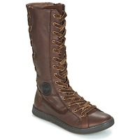 Shoes Women High boots Pataugas JINA Brown