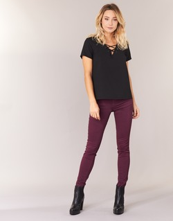 Clothing Women slim jeans Le Temps des Cerises 316 Prune