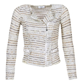 Clothing Women Jackets / Blazers Le Temps des Cerises MIRABEAU Beige / White