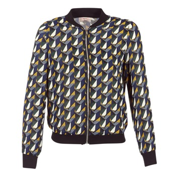 Clothing Women Jackets Moony Mood HARIO Black / Blue / Yellow