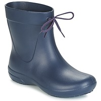 Shoes Women Wellington boots Crocs FREESAIL SHORTY RAIN BOOT Navy