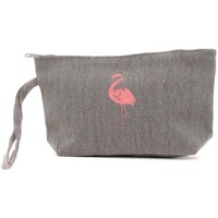 Bags Women Pouches / Clutches Mora Mora Pochette Flamant Gris Grey