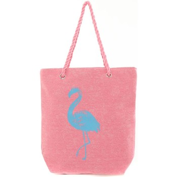 Bags Women Shopping Bags / Baskets Mora Mora Sac Flamingo Rose Pink