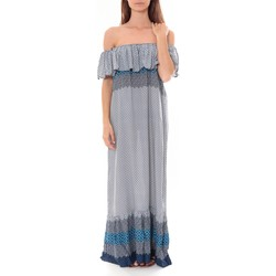 Clothing Women Long Dresses By La Vitrine Robe Longue Care  of you  Bleu F50055 Blue